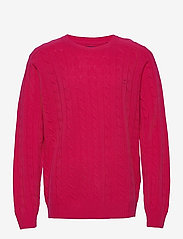 GANT - D2. LAMBSWOOL CABLE CREW - knitted round necks - love potion - 0