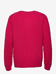 GANT - D2. LAMBSWOOL CABLE CREW - knitted round necks - love potion - 1