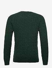 GANT - D2. LAMBSWOOL CABLE CREW - knitted round necks - tartan green - 1