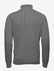 Gant - COTTON CABLE TURTLE NECK - poolokaulus - dark grey melange - 1