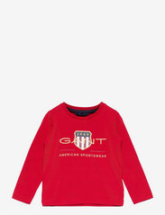 GANT - ARCHIVE SHIELD LS T-SHIRT - long-sleeved - equestrian red - 0