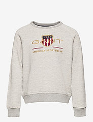 GANT - ARCHIVE SHIELD C-NECK SWEAT - sweatshirts - light grey melange - 0