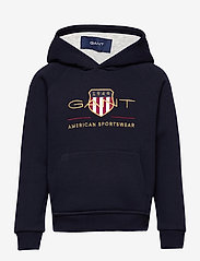 GANT - ARCHIVE SHIELD HOODIE - hoodies - evening blue - 0