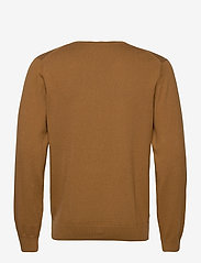 GANT - COTTON WOOL V-NECK - knitted v-necks - butternut melange - 1