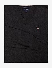 GANT - COTTON WOOL V-NECK - knitted v-necks - dk charcoal melange - 2
