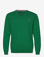 GANT - COTTON WOOL V-NECK - knitted v-necks - kelly green - 0