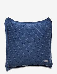 GANT - TRELL KNIT CUSHION COVER - poduszki ozdobne - insignia blue - 0