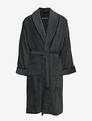 GANT - PREMIUM VELOUR ROBE - bathrobes - antracite - 0