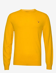 GANT - SUPERFINE LAMBSWOOL CREW - basic knitwear - ivy gold - 0