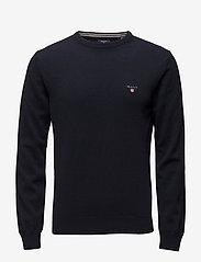 GANT - SUPERFINE LAMBSWOOL CREW - basic knitwear - marine - 0