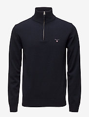 GANT - SUPERFINE LAMBSWOOL HALF ZIP - half zip jumpers - marine - 0