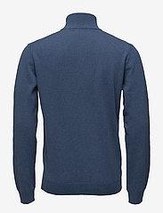 GANT - SUPERFINE LAMBSWOOL HALF ZIP - half zip jumpers - stone blue melange - 1