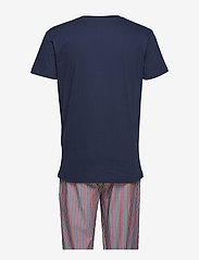 GANT - PJ SET STRIPE/HOLIDAY T GIFT BOX - pyjamas - marine - 1