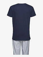 GANT - PJ SET STRIPE/HOLIDAY T GIFT BOX - pyjamas - white - 1