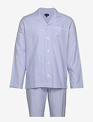 Gant - PAJAMA SET SHIRT CLASSIC STRIPE - pyjamas - white - 0