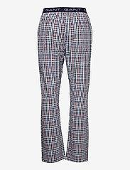 GANT - BIG CHECK PAJAMA PANTS - bottoms - classic blue - 1