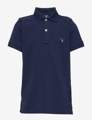 GANT - THE ORIGINAL SS PIQUE - polo shirts - evening blue - 0