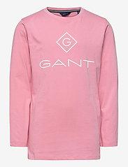 GANT - GANT LOCK-UP LS T-SHIRT - long-sleeved t-shirts - sea pink - 0