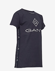 GANT - D1. LOCK UP STRIPE SS T-SHIRT - kurzärmelige - evening blue - 3