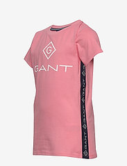GANT - D1. LOCK UP STRIPE SS T-SHIRT - kurzärmelige - strawberry pink - 2