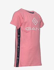 GANT - D1. LOCK UP STRIPE SS T-SHIRT - kurzärmelige - strawberry pink - 3