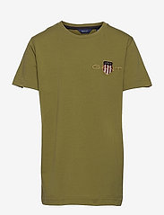 ARCHIVE SHIELD EMB SS T-SHIRT - OLIVE BRANCH GREEN