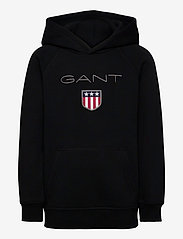 GANT - GANT SHIELD HOODIE - kapuzenpullover - black - 0