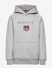 GANT - GANT SHIELD HOODIE - kapuzenpullover - light grey melange - 0