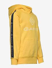 GANT - D1. LOCK UP STRIPE HOODIE - hættetrøjer - solar power yellow - 3
