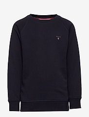 GANT - D1. THE ORIGINAL C-NECK SWEAT - sweatshirts - evening blue - 0