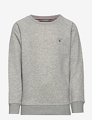 GANT - D1. THE ORIGINAL C-NECK SWEAT - sweatshirts - light grey melange - 0