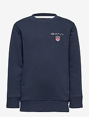 GANT - D1. MEDIUM SHIELD SWEAT C-NECK - sweatshirts - evening blue - 0