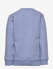 GANT - D1. MEDIUM SHIELD SWEAT C-NECK - sweatshirts - frost blue mel - 1