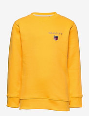 GANT - D1. MEDIUM SHIELD SWEAT C-NECK - sweatshirts - solar power yellow - 0