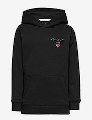 GANT - D1. MEDIUM SHIELD SWEAT HOODIE - hoodies - black - 0