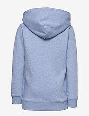 GANT - D1. MEDIUM SHIELD SWEAT HOODIE - hoodies - frost blue mel - 1