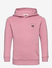 GANT - D1. MEDIUM SHIELD SWEAT HOODIE - kapuzenpullover - sea pink - 0