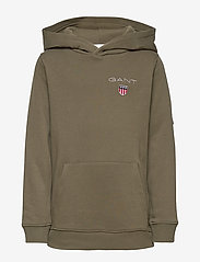 GANT - D1. MEDIUM SHIELD SWEAT HOODIE - hættetrøjer - sea turtle - 0
