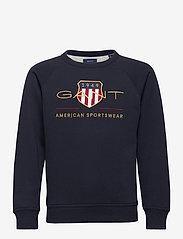 GANT - ARCHIVE SHIELD C-NECK SWEAT - sweatshirts - evening blue - 0