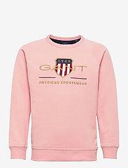 GANT - ARCHIVE SHIELD C-NECK SWEAT - sweatshirts - quartz pink - 0