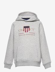 GANT - ARCHIVE SHIELD HOODIE - kapuzenpullover - light grey melange - 0