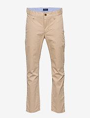GANT - GANT CHINO - trousers - dry sand - 0