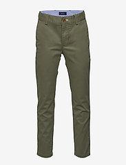 GANT - GANT CHINO - trousers - four leaf clover - 0