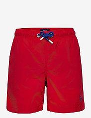 GANT - BOY'S SWIM SHORTS - badehosen - bright red - 0