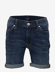 GANT - D2. JEANS SHORTS - shorts - mid blue worn in - 0