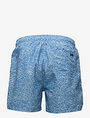 GANT - FULL BLOOM OUTLINE SWIM SHORTS C.F. - swim shorts - lava blue - 1
