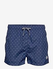 Gant - POLKA DOT SWIM SHORTS LW SHORT CUT - swim shorts - deep blue - 0
