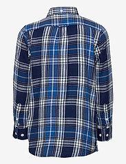 GANT - D1. FLANNEL INDIGO CHECK SHIRT - overhemden - strong blue - 1