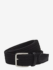 GANT - ELASTIC BRAID BELT - braided belts - black - 0