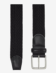 GANT - ELASTIC BRAID BELT - braided belts - black - 1